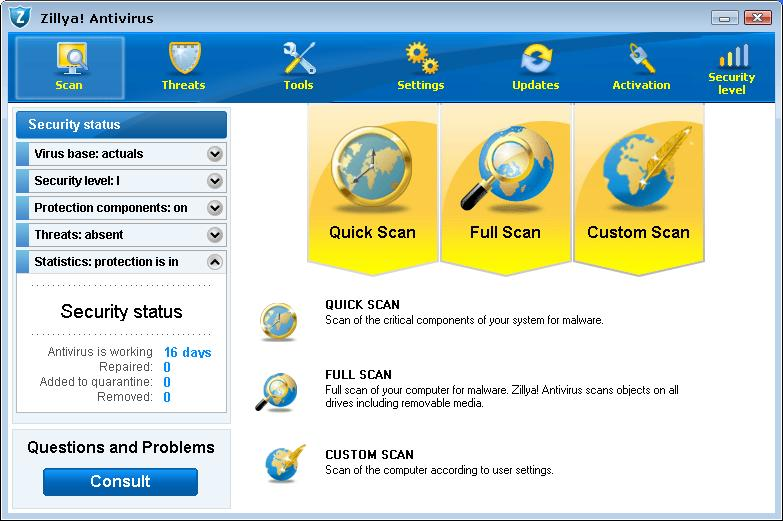 Click to view Zillya! Antivirus screenshots