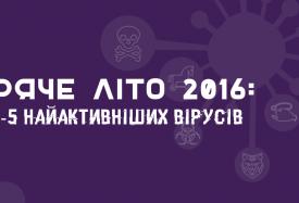 ТОП-5 найактивніших вірусів 2016 року